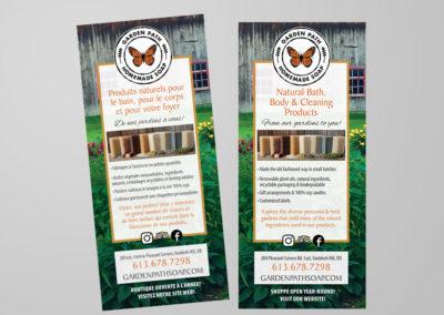 Garden Path Homemade Soap Rack Cards